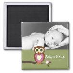 Baby Owl/ Photo Refrigerator Magnet