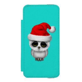 Baby Owl Wearing a Santa Hat Incipio Watson™ iPhone 5 Wallet Case