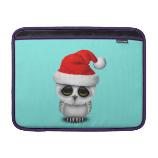 Baby Owl Wearing a Santa Hat MacBook Sleeve