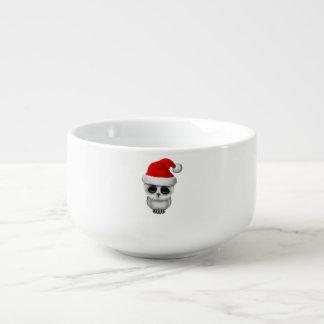 Baby Owl Wearing a Santa Hat Soup Mug