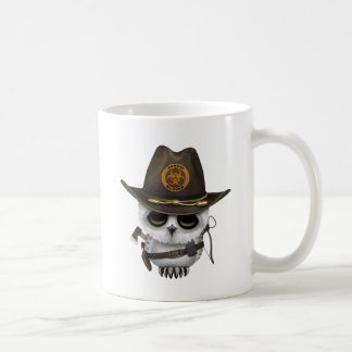 Baby Owl Zombie Hunter Coffee Mug