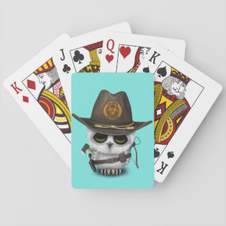 Baby Owl Zombie Hunter Playing Cards