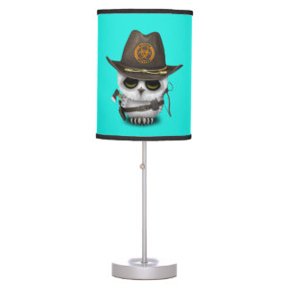 Baby Owl Zombie Hunter Table Lamp