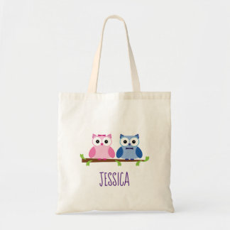 Baby Owls Gender Reveal Baby Shower Tote Bag