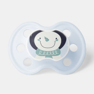 Baby pacifier with Snowman  /  blue
