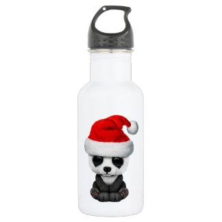 Baby Panda Bear Wearing a Santa Hat 532 Ml Water Bottle