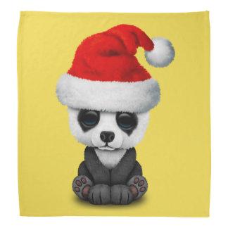 Baby Panda Bear Wearing a Santa Hat Bandana