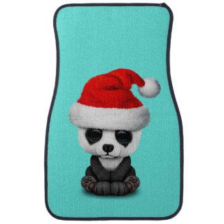 Baby Panda Bear Wearing a Santa Hat Car Mat