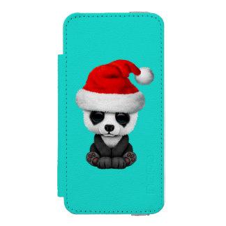 Baby Panda Bear Wearing a Santa Hat Incipio Watson™ iPhone 5 Wallet Case