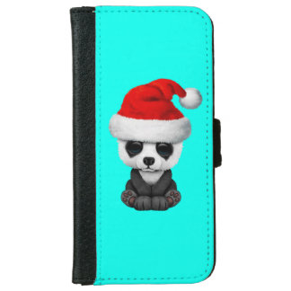 Baby Panda Bear Wearing a Santa Hat iPhone 6 Wallet Case