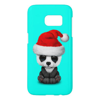 Baby Panda Bear Wearing a Santa Hat Samsung Galaxy S7 Case