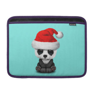 Baby Panda Bear Wearing a Santa Hat Sleeve For MacBook Air