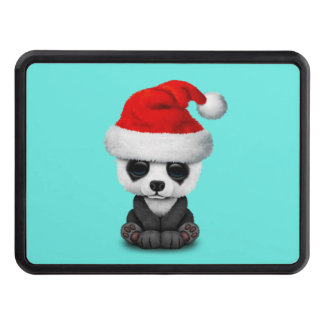 Baby Panda Bear Wearing a Santa Hat Trailer Hitch Cover