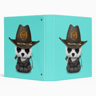 Baby Panda Bear Zombie Hunter 3 Ring Binder