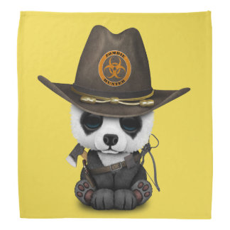Baby Panda Bear Zombie Hunter Bandana