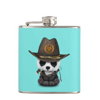 Baby Panda Bear Zombie Hunter Hip Flask