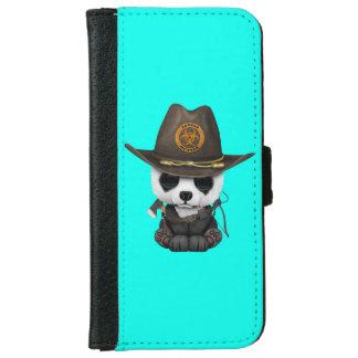 Baby Panda Bear Zombie Hunter iPhone 6 Wallet Case