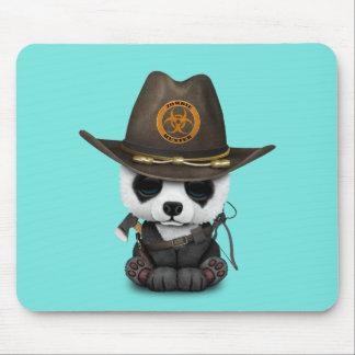 Baby Panda Bear Zombie Hunter Mouse Pad