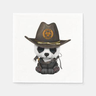 Baby Panda Bear Zombie Hunter Paper Napkins