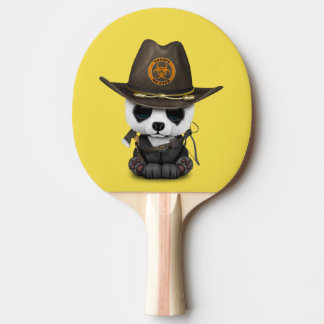 Baby Panda Bear Zombie Hunter Ping Pong Paddle