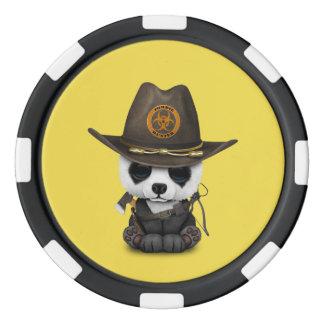 Baby Panda Bear Zombie Hunter Poker Chips