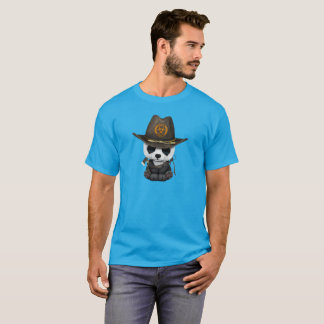 Baby Panda Bear Zombie Hunter T-Shirt