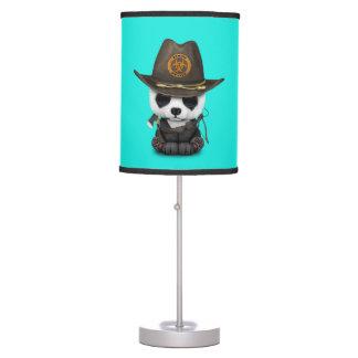 Baby Panda Bear Zombie Hunter Table Lamp