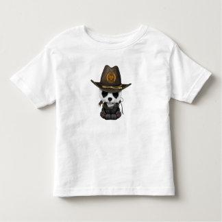 Baby Panda Bear Zombie Hunter Toddler T-shirt