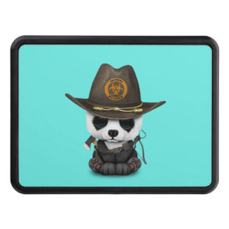 Baby Panda Bear Zombie Hunter Trailer Hitch Cover