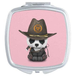 Baby Panda Bear Zombie Hunter Vanity Mirror