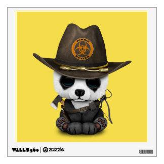 Baby Panda Bear Zombie Hunter Wall Sticker