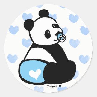 Baby Panda Cartoon Blue Diaper Sticker