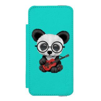 Baby Panda Playing Albanian Flag Guitar Incipio Watson™ iPhone 5 Wallet Case