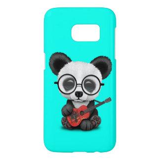 Baby Panda Playing Albanian Flag Guitar Samsung Galaxy S7 Case
