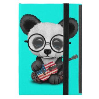 Baby Panda Playing American Flag Guitar Case For iPad Mini