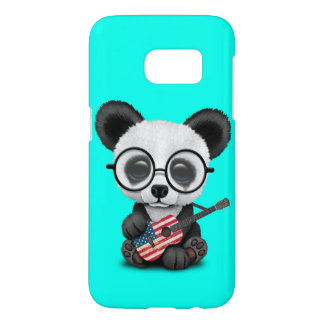 Baby Panda Playing American Flag Guitar Samsung Galaxy S7 Case