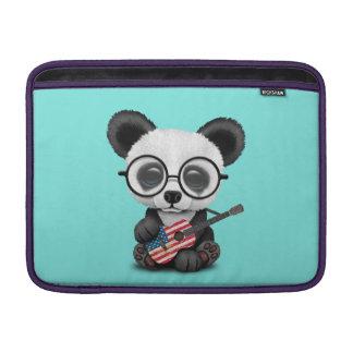 Baby Panda Playing American Flag Guitar Sleeve For MacBook Air