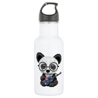 Baby Panda Playing Australian Flag Guitar 532 Ml Water Bottle