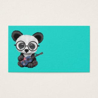 Baby Panda Playing Australian Flag Guitar Business Card