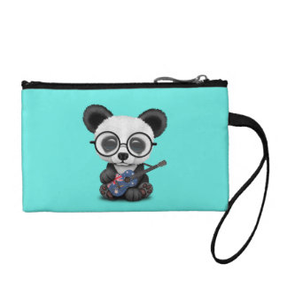 Baby Panda Playing Australian Flag Guitar Coin Purse