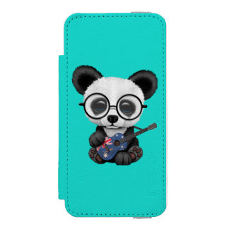 Baby Panda Playing Australian Flag Guitar Incipio Watson™ iPhone 5 Wallet Case