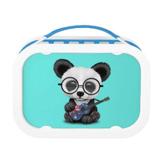 Baby Panda Playing Australian Flag Guitar Lunch Box