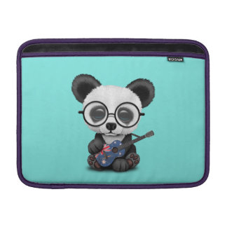 Baby Panda Playing Australian Flag Guitar MacBook Sleeve