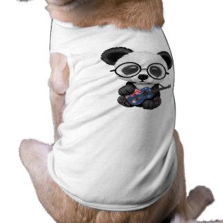 Baby Panda Playing Australian Flag Guitar Shirt