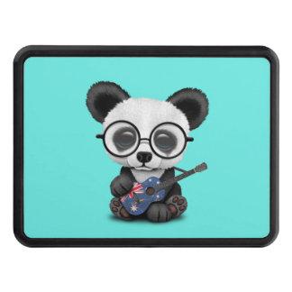 Baby Panda Playing Australian Flag Guitar Trailer Hitch Cover