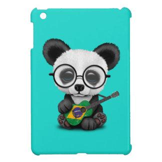 Baby Panda Playing Brazilian Flag Guitar iPad Mini Case