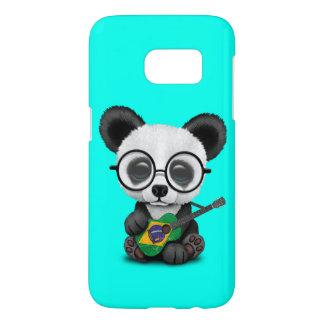 Baby Panda Playing Brazilian Flag Guitar Samsung Galaxy S7 Case