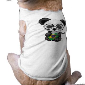 Baby Panda Playing Brazilian Flag Guitar Shirt