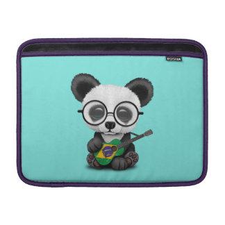 Baby Panda Playing Brazilian Flag Guitar Sleeve For MacBook Air
