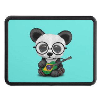 Baby Panda Playing Brazilian Flag Guitar Trailer Hitch Cover